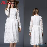 Best Promotional Custom Cocktail Party Dress White Lace Type A Line Silhouette wholesale