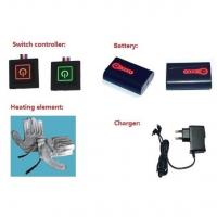 Best Electric Rechargeable Heated Gloves System: Batteries + LED Button+Charger+Heating Element wholesale