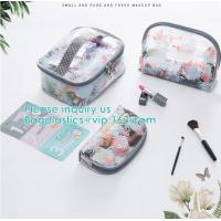 Best Travel Luggage Pouch Custom Clear Transparent PVC Travel Toiletry Bag Make Up Cosmetic Bag,Vinyl Wash Beauty Cosmetic Tr wholesale
