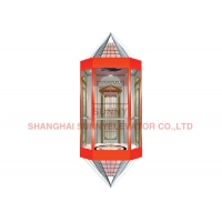 China Observation Hairline Stainless Steel Panoramic Glass Elevator on sale