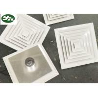 China Air Pipe Inlet Square White Aluminium Grille Directional Air Diffuser For Cleanroom on sale