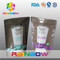 China Reasonable Stand Up Foil Pouches With Zipper For Sugar / Food Packaging on sale