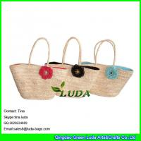 Details Of Luda Natural Straw Lunch Bags Stylish Flower