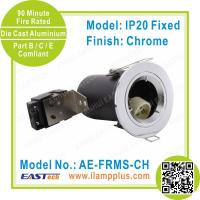 IP20 Fixed Chrome Fire Rated Downlight | 90 Minute Fire Rating | Twist Lock