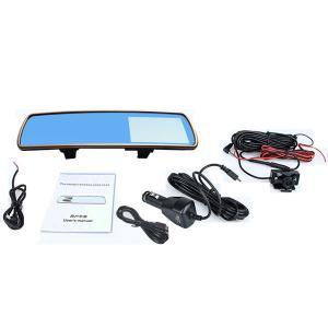 Best ADV700B Dual Lens Car Rearview Mirror Camera Night Vision 3 Mega Pixels With 1 External Lens DVR Accident News Recorder wholesale