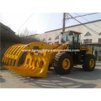 5 Tons Loading Capacity Wheeled Front End Loader 857 Model with Grass Grapple