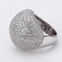 China Mushroom Cloud Shape Finger Ring Made of Sterling Silver and Czs on sale