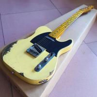 China Custom Cream Color Handed Relic TELE Electric Guitar Customized Logo is Available on sale