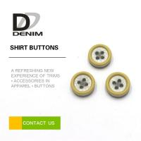 China Resin Plastic Dress Shirt Buttons , Yellow Boy Or Girl Buttons 12L 14L 16L 18L on sale