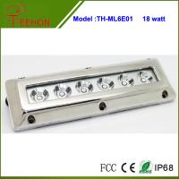 Best 18W in optional emittor color,Stainless Steel Underwater Boat Rectangular Marine LED light wholesale