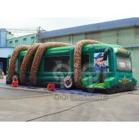 Best Inflatable Jungle Bus Obstacle Game wholesale