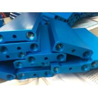Buy cheap Blue Anodized CNC Precision Components 6082T5 Aluminum T Slot Framewith M6 Holes from wholesalers