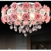 Best High quality rose flower ceiling lamp modern crystal ceiling lamp wholesale