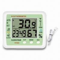 China In-Outdoor Thermometer with Large Panel, Jumbo LCD Display, Indoor Hygroand Calendar on sale