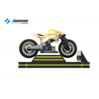 Best 1500W VR Motorcycle Simulator SSD Drive 120G With 24 Inch LED Screen Locked Door wholesale