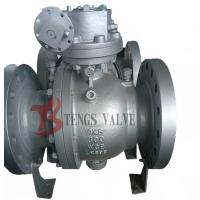 China Flanged Trunnion Soft Seated Ball Valve , Cast Steel WCB WCB Ball Valve Split Body on sale