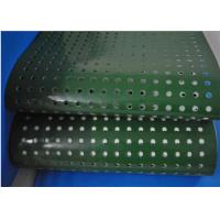 Best Green PVC Plastic Corrugator Conveyor Belt With Punching Holes For Lightweight Conveying wholesale