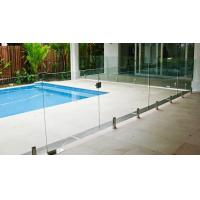 China Transparent Outdoor Glass Fence , Fully Frameless Glass Pool Fencing on sale