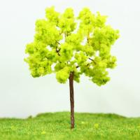 Best Architectural Miniature Scale Model Trees Yellow Green Avenue Wire Tree 9cm wholesale