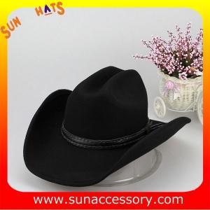 Best 1284 Sun Accessory customized western hats 100% wool felt cowboy hats for men wholesale