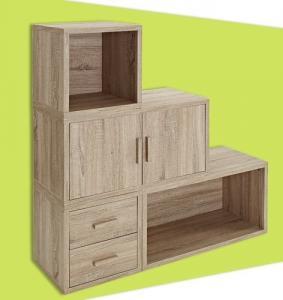 Best Adjustable Light Wooden Book Case , Bookshelf With Doors/ Drawers wholesale