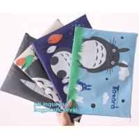 Best Stationery A4 Paper Waterproof Office Zipper File Bag, Office Stationery Bright Colors OEM File Bag Pocket Clear PVC Bag wholesale