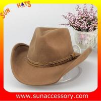 China Fashion hot sale Western cowboy  or cowgirl hats for mens and womens,100% Australia wool felt camcelhats on sale