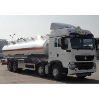 China Sinotruk howo 8*4 25000 liters diesel oil Tank Truck Trailer / oil delivery truck on sale