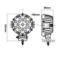 Best 51W Round LED Driving Light (LED work lamp) and LED Work Light in Oga Brand wholesale