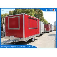 China Gas Pizza Oven Equipped Mobile Food Kitchen Trailer Sandwich Panel wholesale