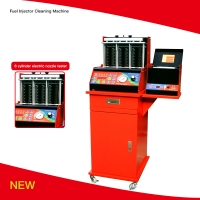 Best HW-6D 240V Fuel Injector Cleaning Machine 8 Cylinders LED Display wholesale
