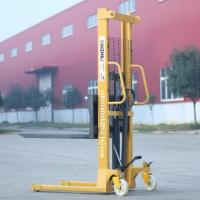 China Portable hand forklift 2000kg hydraulic manual pallet stacker for sale on sale