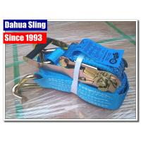 China 5000kg Working Load Cargo Tie Down Straps , Commercial E Track Ratchet Straps on sale