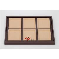 Best Eco-friendly Jewellery Display Trays 6 Grid Removable Microfiber Pad Pu Leather Coverd wholesale