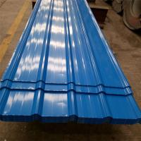 Best 0.426mm blue color single steel 840mm corrugated roofing sheets 5 meters for factory wholesale