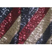 Best Multi - Color Embroidered Shiny Sequin Fabric Azo Free For Evening Dress wholesale