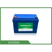 Best 2000 Cycles Life Electric Industrial Forklift Batteries 24V 50Ah Nano LiFePO4 Material wholesale