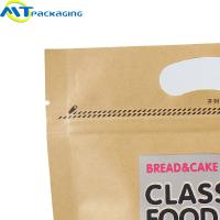 Buy cheap Food Kraft Zipper Pouch Bags / Stand Up Packaging Bags Customized Size from wholesalers