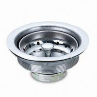 Best Drain Strainer/Stainless Steel Sink Strainer with Chrome-plate Finish, Used for Kitchen Sinks wholesale