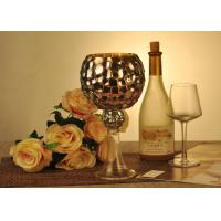 Best Antique Mosaic Glass Candle Holder Electroplating Christmas Decoration wholesale
