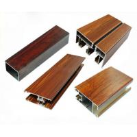 Best Low Pollution Aluminum Window Frame Profile Wood Finish For Decoration wholesale
