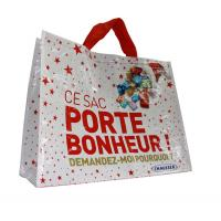 Best Custom PP Woven Shopping Bags  120gsm Cylinder Printing CMYK Color Shining Coated wholesale