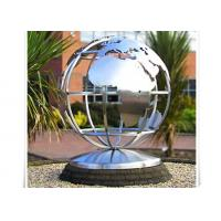 Best Metal World Globe Map Stainless Steel Sculpture For Public Decoration wholesale