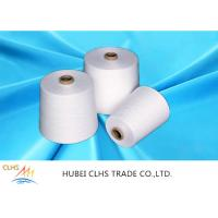 Best Paper Cone Polyester Ring Spun Yarn , Optical White Spun Poly Thread For Handbags wholesale