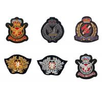 Best Indian silk sea land army eagle bird badge embroidery England clothes decoration patch American uniform wholesale