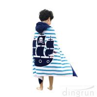 Best 100 % Cotton Softest Children's Towelling Ponchos Quick Dry For Beach Pool wholesale