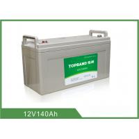 Best 140Ah Led Light Rechargeable Battery Deep Cycle With Silver Prismatic Case wholesale