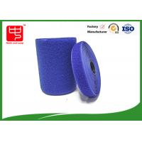 Best Blue hook and loop tape customized adhesive backed hook and loop tape 100% nylon material wholesale