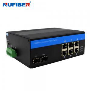 Best ODM 6 Port Gigabit Switch With 2 Sfp , Din Rail Managed Switch wholesale