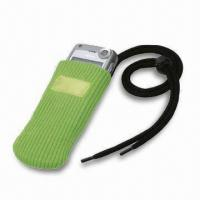 China Mobile Phone Pouch/Case, Made of Polyester, Measures 13 x 6 x 0.6cm on sale